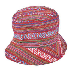 Aztec Canvas Hippy Bucket Sun Hat