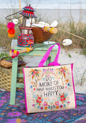 Natural Life Do More Happy Insulated Tote Bag