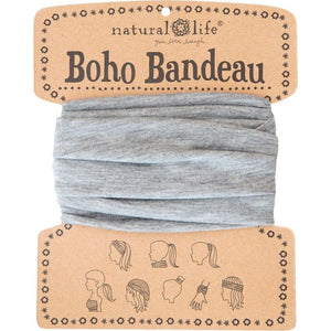 Natural Life Women's Boho Bandeau Heather Grey Boho Bandeau