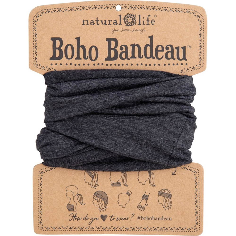Natural Life Women's Boho Heathered Charcoal Boho Bandeau