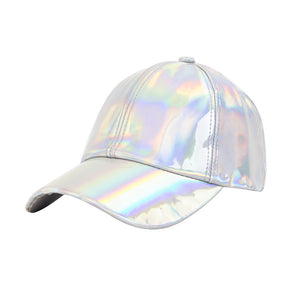 Festival Holographic Metallic Shiny Baseball Hat