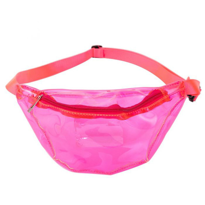80s/90s Neon Pink Transparent Bum Bag