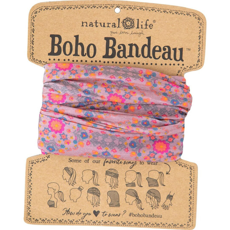Natural Life Women's Boho Pink Flower Stamp  Boho Bandeau