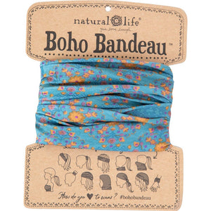 Natural Life Women's Boho Blue Flower Stamp  Boho Bandeau
