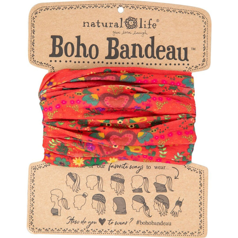 Natural Life Women's Boho Red Hearts Boho Bandeau