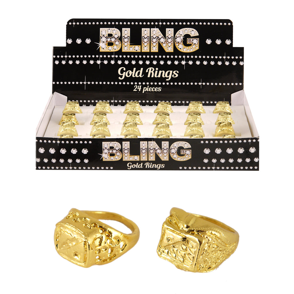 Bling Gold Gangster Rapper Ring