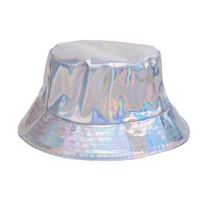Festival Holographic Metallic Shiny Bucket Sun Hat