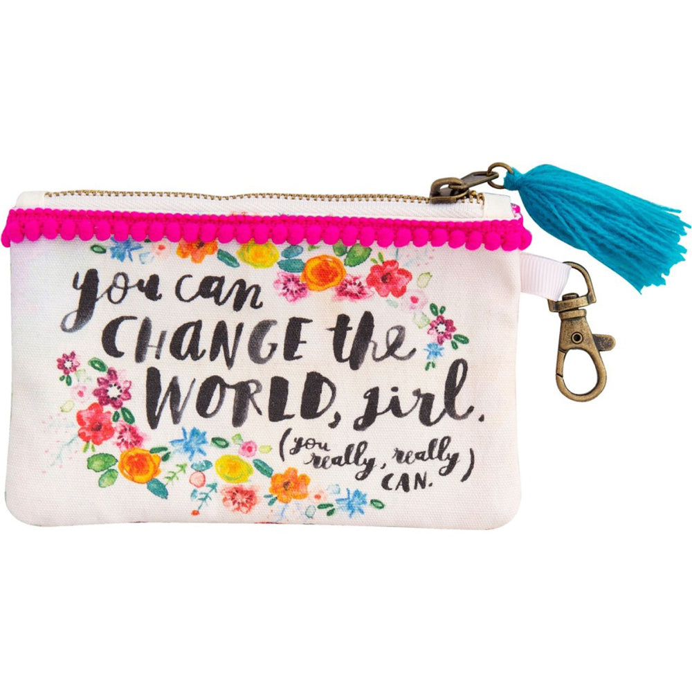 Natural Life You Can Change The World ID Pouch