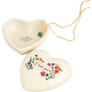 Natural Life I Love You Heart Trinket Box