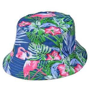Flamingo Hippy Canvas Bucket Sun Hat