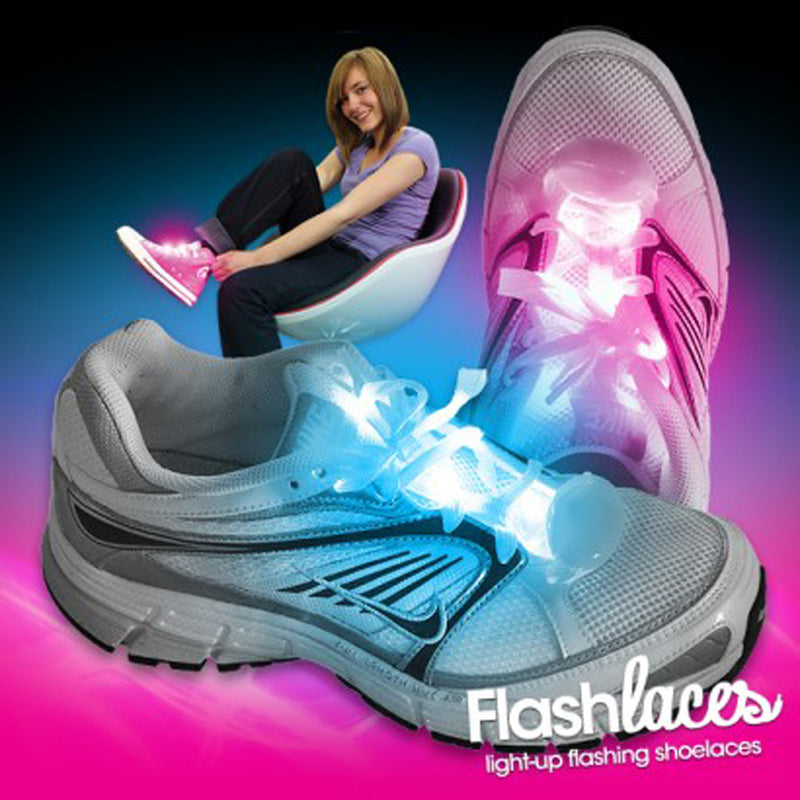 Flashing shoe laces