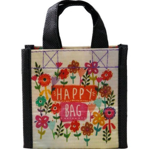 Natural Life Extra Small Watercolour Flowers Happy Bag