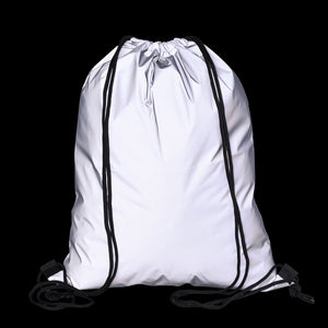 Reflective High Vis Drawstring Festival & Travel Nap Sack Backpack
