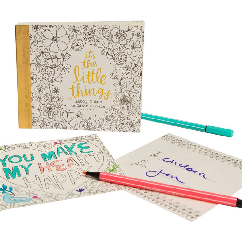 Natural Life Happy Notes Colouring Book