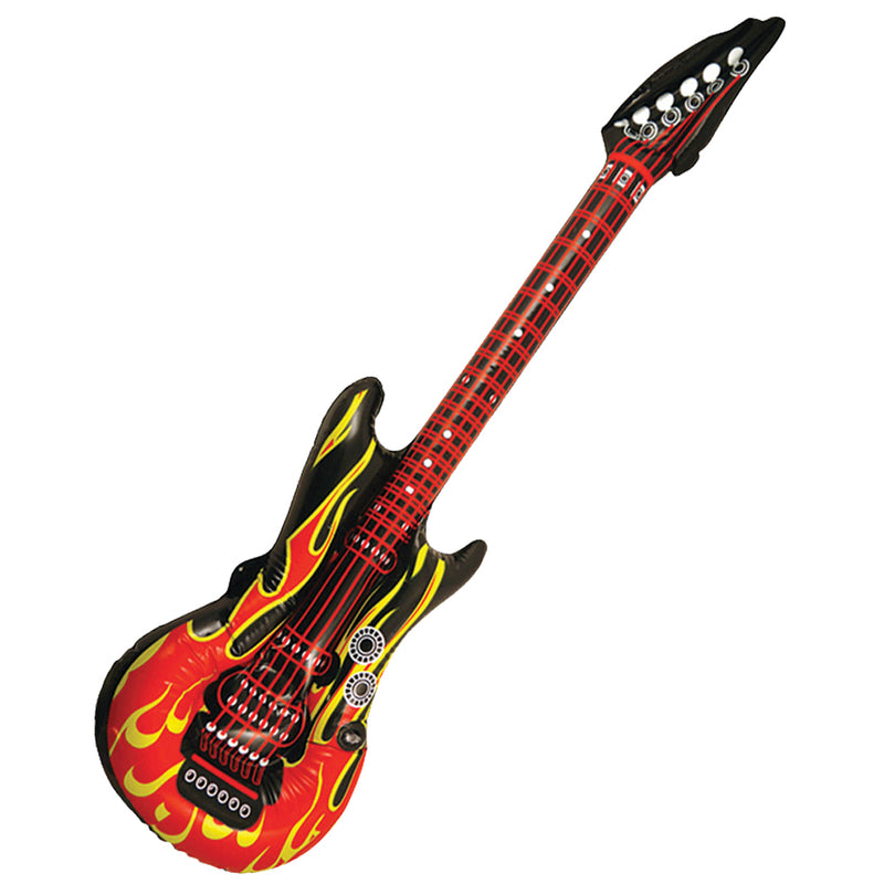 Inflatable Blow Up Flame Guitar