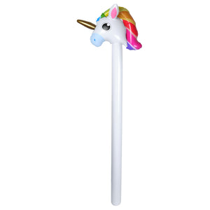 inflatable blow up unicorn stick