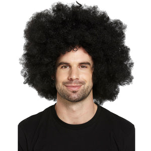 70's, 80's Black Giant Afro Wig For Festivals