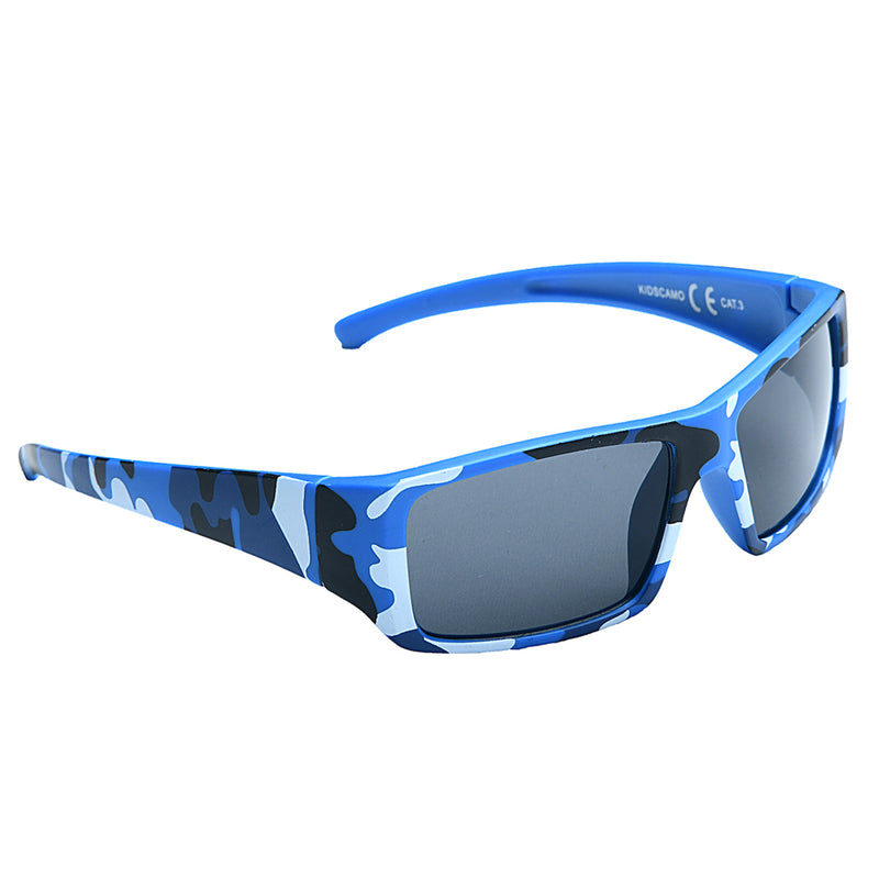 Festival Outlet: EyeLevel Kid's Camo  Sunglasses -  Blue