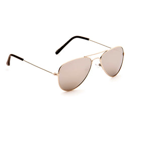 Kid's Squadron Aviator Style EyeLevel Sunglasses, Black or Brown Lens