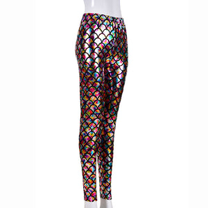 Holographic Scale Festival Leggings