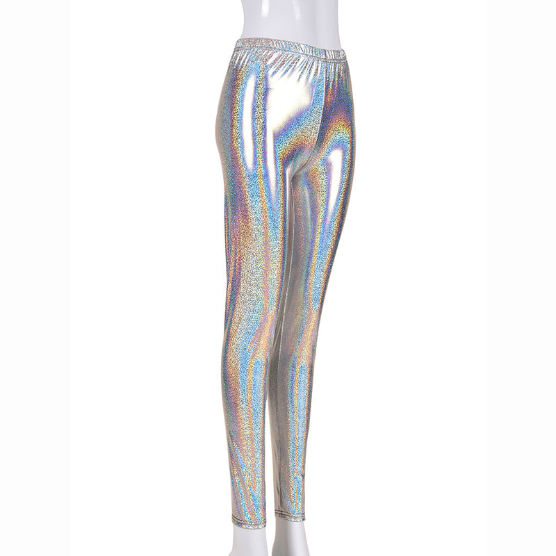 Holographic Foil Festival Leggings