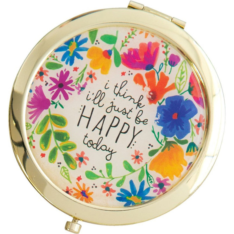 Natural Life Natural Life Be Happy Today Compact Mirror