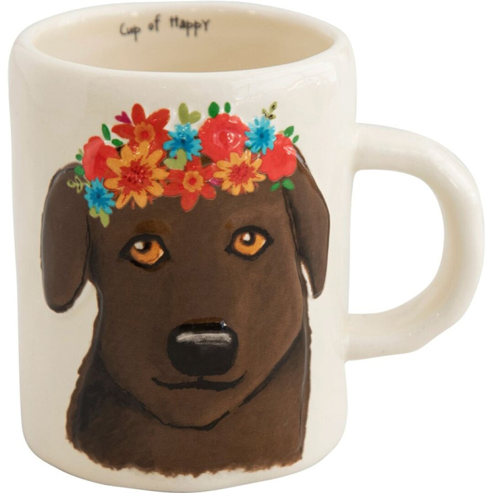 Natural Life Embossed Mug Chocolate Lab