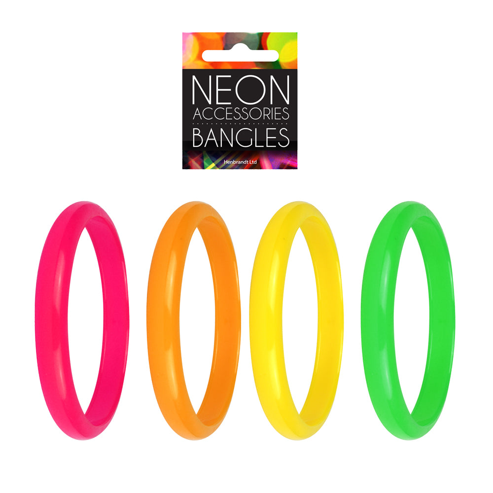80's Neon Bangles Neon Pink, Orange, Yellow and Green