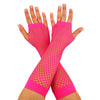 80's Neon Fishnet Fingerless Gloves, Neon Pink, Orange, Yellow and Green