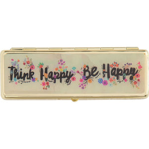 Natural Life Cream Think Happy Be Happy Daily Pill Box