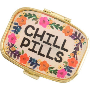 Natural Life Cream Floral Chill Pills Pill Box