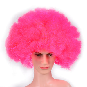 70's, 80's Neon Pink Giant Afro Wig For Festivals