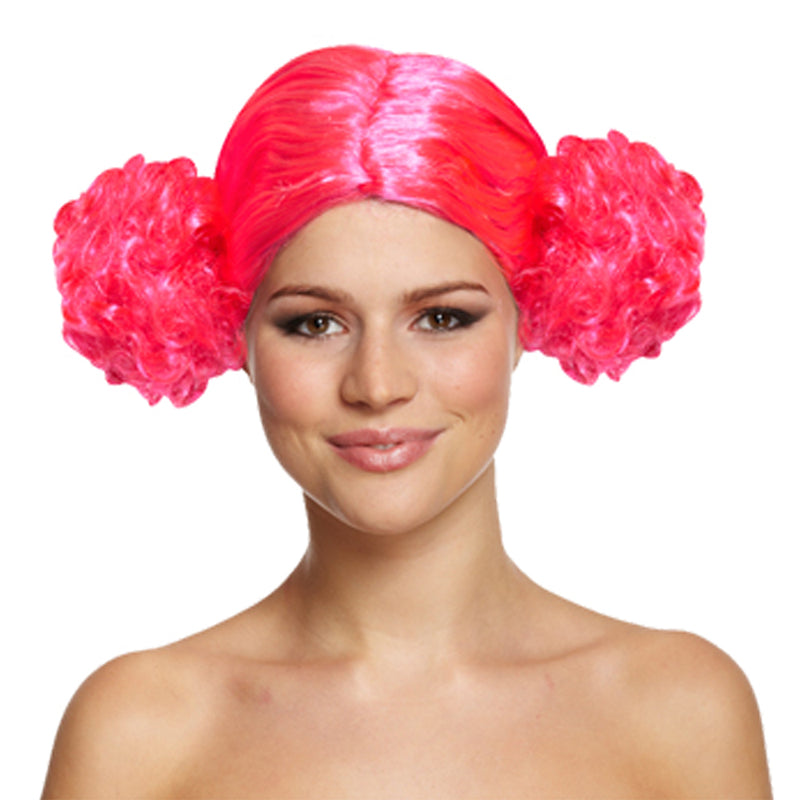 80's Pink Bunches Wig