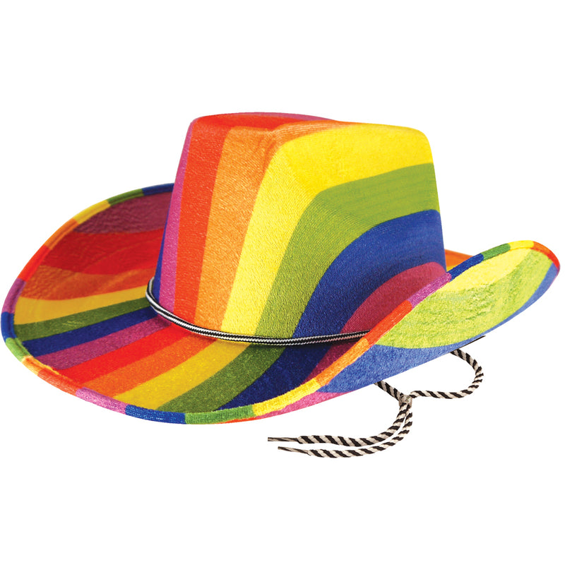 Festival Outlet: Gay Pride Rainbow Cowboy Hat