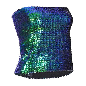 Ladies Sequin Strapless Boob Tube