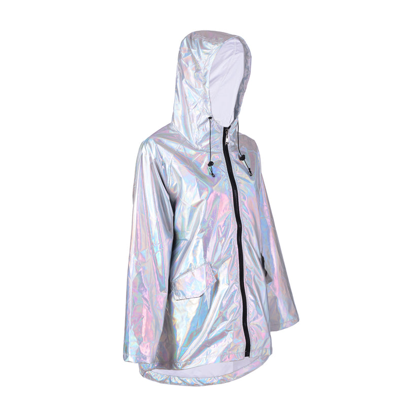 Holographic Festival Raincoat