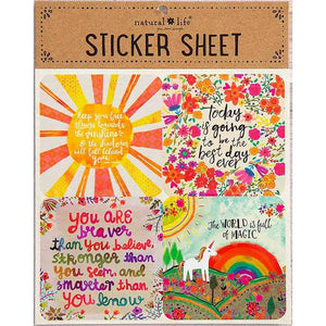 Natural Life Sticker Sheet Face The Sunshine