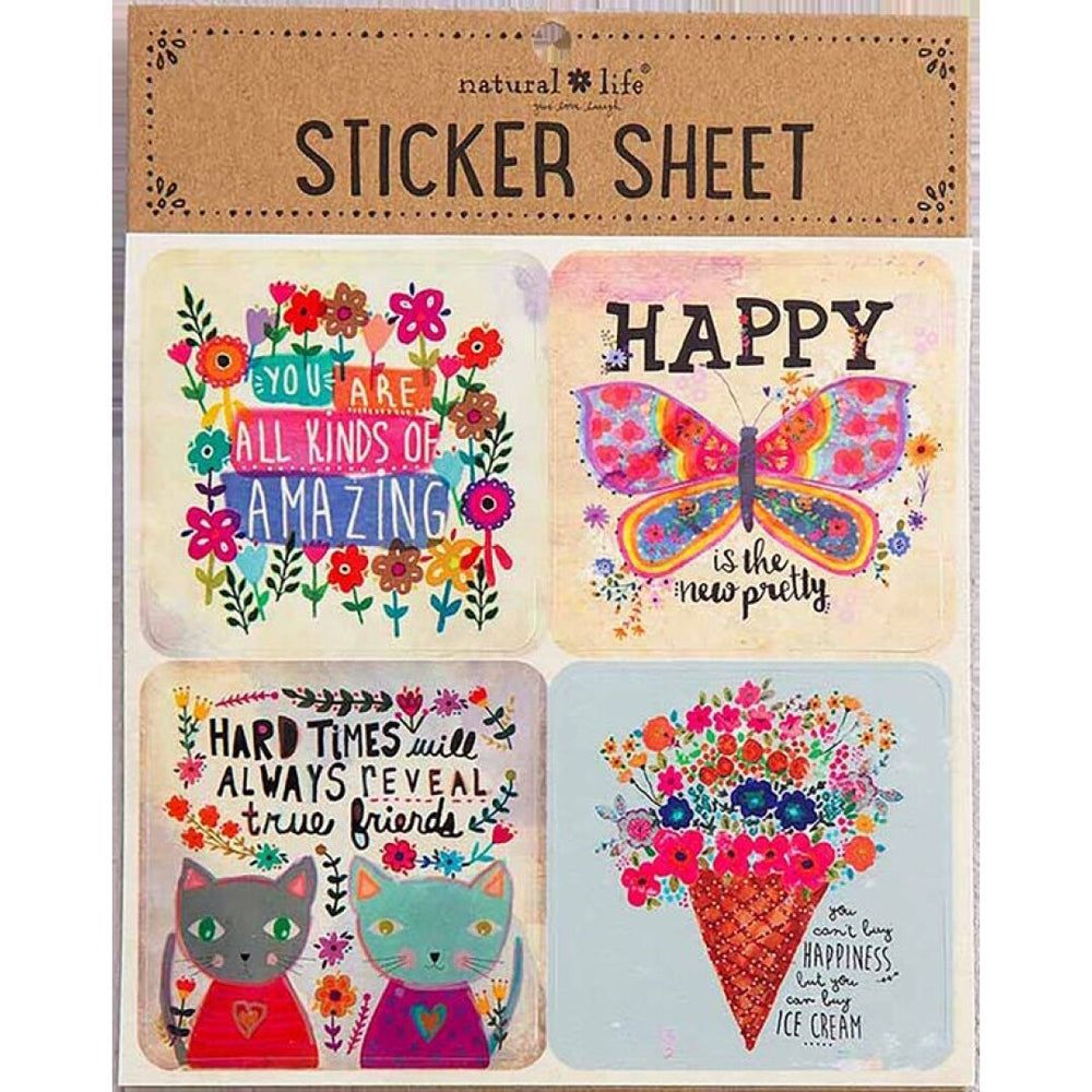 Natural Life Sticker Sheet You Are Amazing