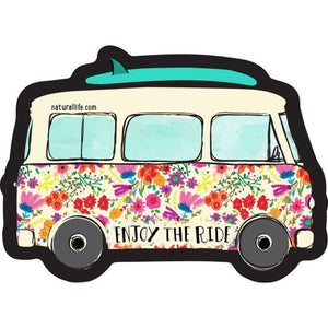 Natural Life Enjoy The Ride Van Vinyl Sticker