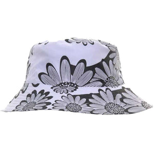 "Unisex Cotton ""Reversible"" Sunflower Print Bush Bucket Sun Hat"