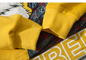 Asian inspired design Mombert Yellow Hoodie –  streetwear street fashion asian style -  Mombert printed Hoodie