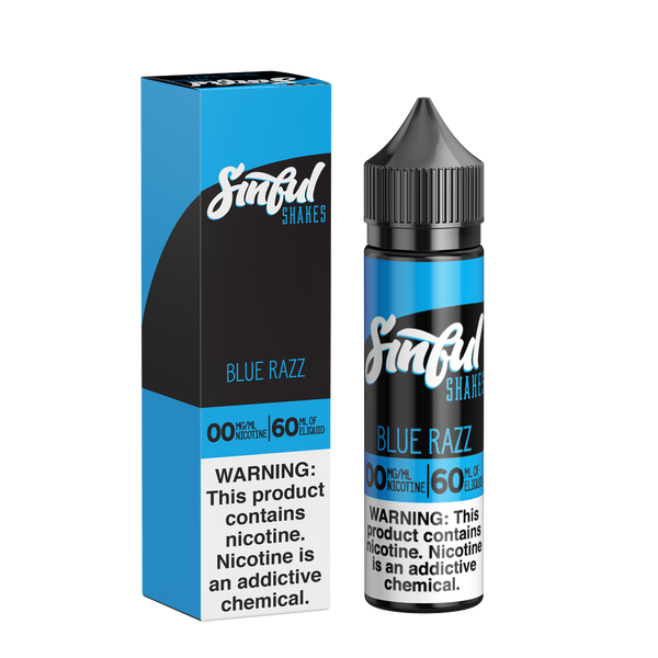 60ML | Blue Razz Cotton Candy by Sinful Shakes