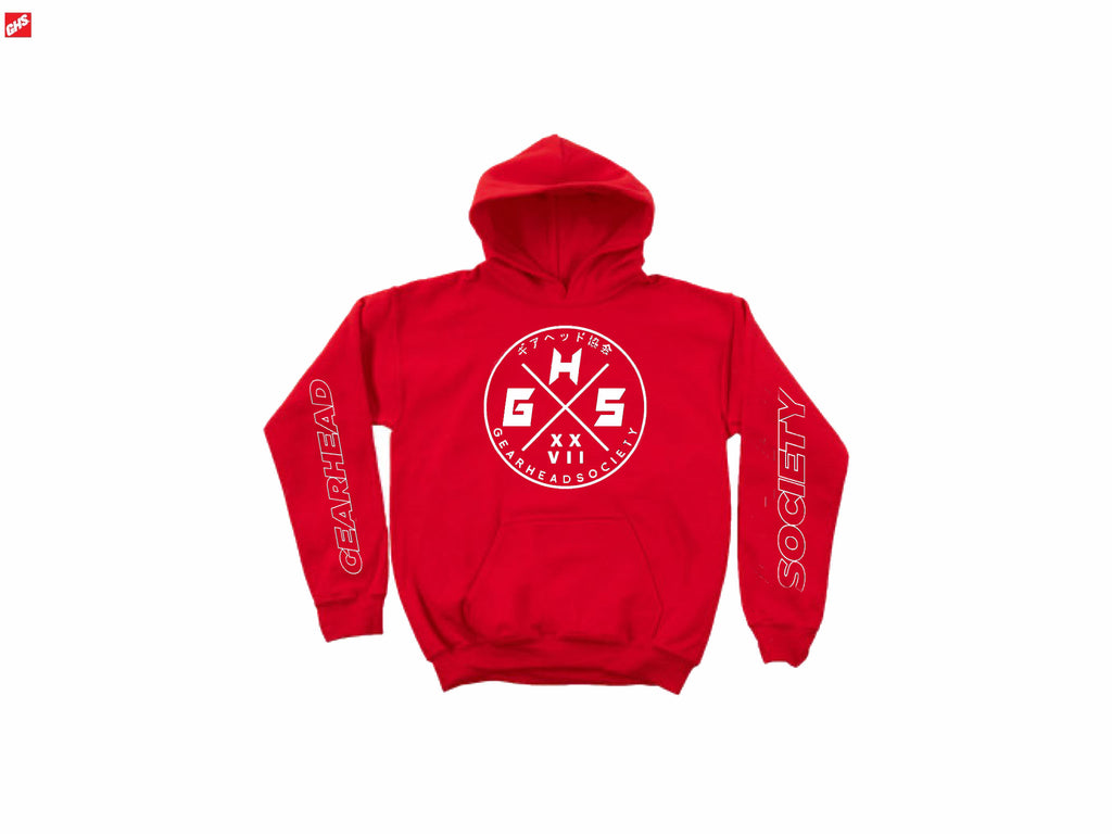 GHS CIRCLE RED CHAMPION HOODIE