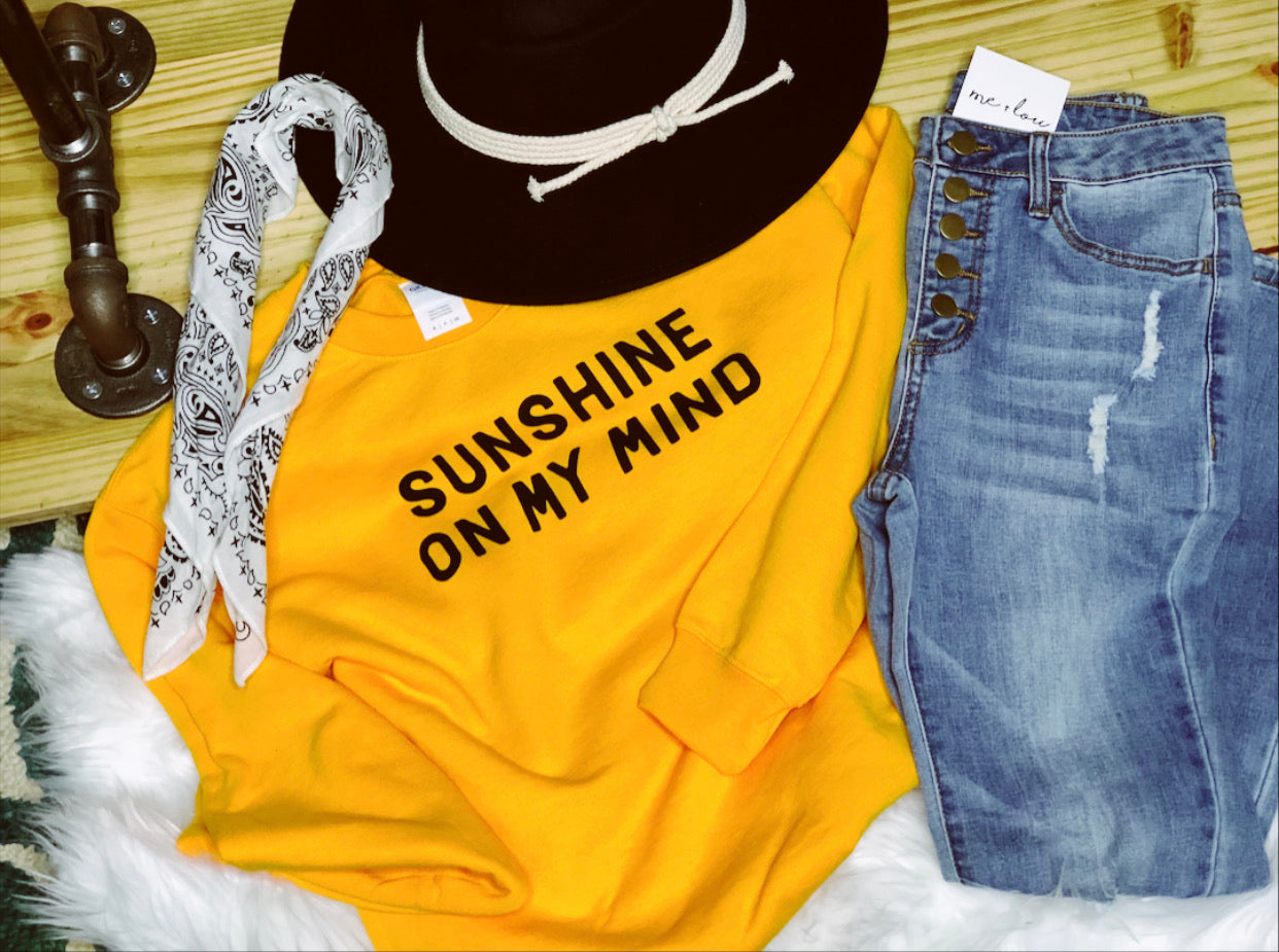 Sunshine On My Mind Sweatshirt Plus