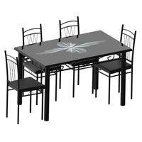 Dining Table Set (1+4) A31/B22 120x70cm