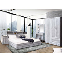 BYY Bed Room Set 4 Feet Wardrobe DOUBLE Grey