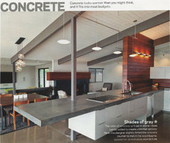 Concrete in Home Decor - Food Network magazine (October 2013)