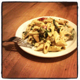 Chicken, Mushroom and Asparagus Pasta