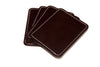 Dark Havana European Leather Coasters