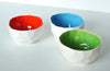 Polygon bowls in Red, Blue & Green